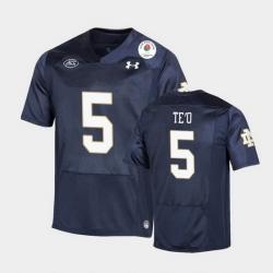Men Notre Dame Fighting Irish Manti Te'O 2021 Rose Bowl Navy College Football Jersey