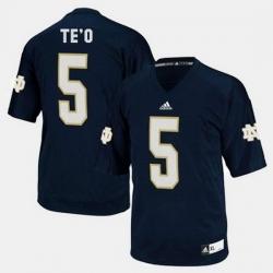 Men Notre Dame Fighting Irish Manti Te'O College Football Blue Jersey