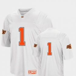 Men Oklahoma State Cowboys And Cowgirls 1 White College Football Colosseum Jersey