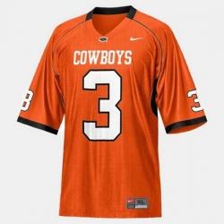 Men Oklahoma State Cowboys And Cowgirls Brandon Weeden College Football Orange Jersey