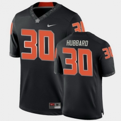 Men Oklahoma State Cowboys Chuba Hubbard College Football Black Game Jersey