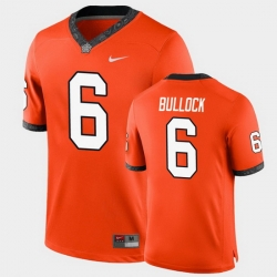 Men Oklahoma State Cowboys Ethan Bullock College Football Orange Game Jersey