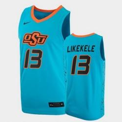 Men Oklahoma State Cowboys Isaac Likekele College Basketball Blue Jersey