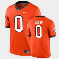 Men Oklahoma State Cowboys Ld Brown College Football Orange Game Jersey