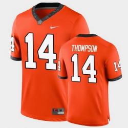 Men Oklahoma State Cowboys Peyton Thompson College Football Orange Game Jersey