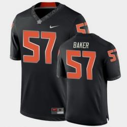 Men Oklahoma State Cowboys Ryan Baker College Football Black Game Jersey