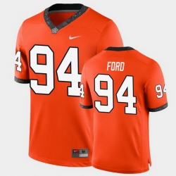Men Oklahoma State Cowboys Trace Ford College Football Orange Game Jersey