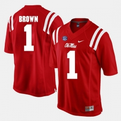 A.J. Brown Red Ole Miss Rebels Alumni Football Game Jersey