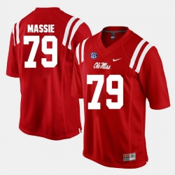Bobby Massie Red Ole Miss Rebels Alumni Football Game Jersey