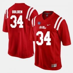 Brandon Bolden Red Ole Miss Rebels Alumni Football Game Jersey