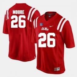 C.J. Moore Red Ole Miss Rebels Alumni Football Game Jersey