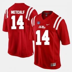 D.K. Metcalf Red Ole Miss Rebels Alumni Football Game Jersey