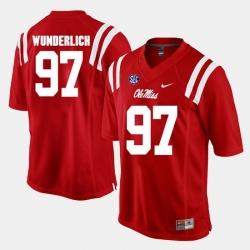 Gary Wunderlich Red Ole Miss Rebels Alumni Football Game Jersey