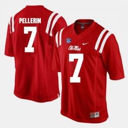 Jason Pellerin Red Ole Miss Rebels Alumni Football Game Jersey