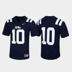 Men Ole Miss Rebels 10 Navy Untouchable Game Jersey