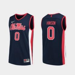 Men Ole Miss Rebels Blake Hinson Navy Replica College Basketball Jersey