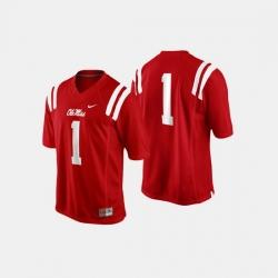 Men Ole Miss Rebels College Football Cardinal Jersey