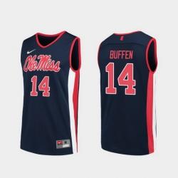 Men Ole Miss Rebels Kj Buffen Navy Replica College Basketball Jersey