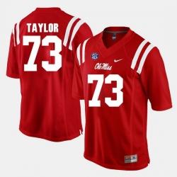 Men Rod Taylor Red Ole Miss Rebels Alumni Football Game Jersey
