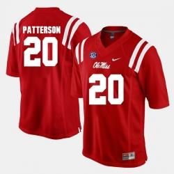 Men Shea Patterson Red Ole Miss Rebels Alumni Football Game Jersey