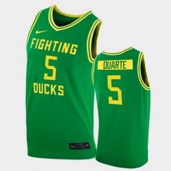 Men Oregon Ducks Chris Duarte College Basketball Green Replica 2020 21 Jersey