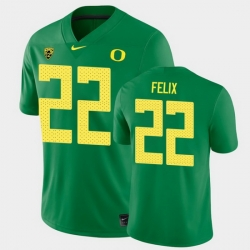 Men Oregon Ducks Darrian Felix College Football Green Game Jersey