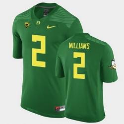 Men Oregon Ducks Devon Williams Replica Green Game Football Jersey
