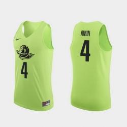 Men Oregon Ducks Ehab Amin Apple Green Authentic College Basketball Jersey 0A