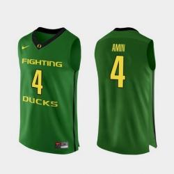 Men Oregon Ducks Ehab Amin Apple Green Authentic College Basketball Jersey