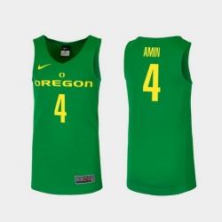 Men Oregon Ducks Ehab Amin Green Replica College Basketball Jersey