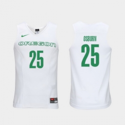 Men Oregon Ducks Luke Osborn White Elite Authentic Performance College Basketball Jersey