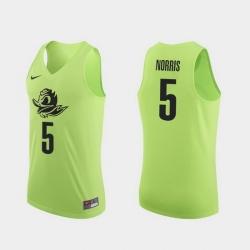 Men Oregon Ducks Miles Norris Apple Green Authentic College Basketball Jersey 0A