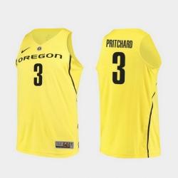 Men Oregon Ducks Payton Pritchard Yellow Authentic College Basketball Jersey