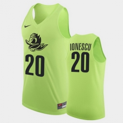 Men Oregon Ducks Sabrina Ionescu Authentic Apple Green College Basketball Jersey
