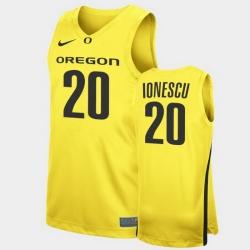 Men Oregon Ducks Sabrina Ionescu Replica Yellow College Basketball Jersey