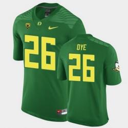 Men Oregon Ducks Travis Dye Replica Green Game Football Jersey