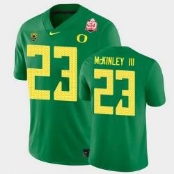 Men Oregon Ducks Verone Mckinley Iii 2021 Fiesta Bowl Green Game Jersey 0A