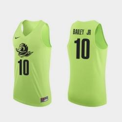Men Oregon Ducks Victor Bailey Jr. Apple Green Authentic College Basketball Jersey 0A