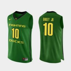 Men Oregon Ducks Victor Bailey Jr. Apple Green Authentic College Basketball Jersey