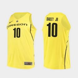 Men Oregon Ducks Victor Bailey Jr. Yellow Authentic College Basketball Jersey