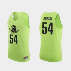 Men Oregon Ducks Will Johnson Apple Green Authentic College Basketball Jersey 0A