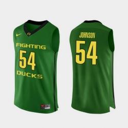 Men Oregon Ducks Will Johnson Apple Green Authentic College Basketball Jersey