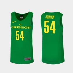 Men Oregon Ducks Will Johnson Green Replica College Basketball Jersey