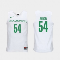 Men Oregon Ducks Will Johnson White Elite Authentic Performance College Basketball Jersey