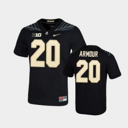 Men Purdue Boilermakers Alfred Armour Game Football Black Jersey