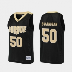 Men Purdue Boilermakers Caleb Swanigan Alumni Black Basketball Jersey