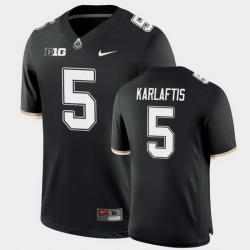 Men Purdue Boilermakers George Karlaftis College Football Game Black Jersey