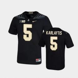 Men Purdue Boilermakers George Karlaftis Game Football Black Jersey