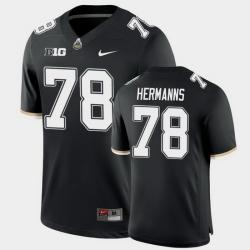 Men Purdue Boilermakers Grant Hermanns College Football Game Black Jersey