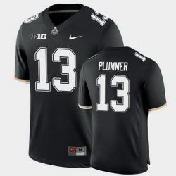 Men Purdue Boilermakers Jack Plummer College Football Game Black Jersey